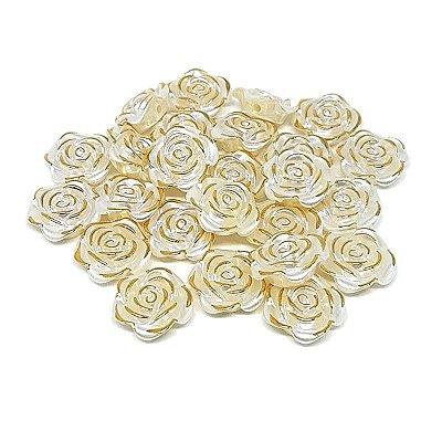 Rosa Fio Dourado ABS 25unid. (Creme)