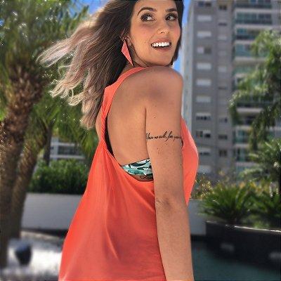 Vestido Nó Costas Comphy Coral