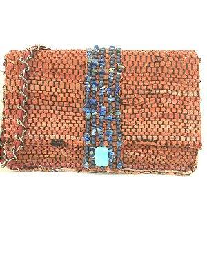 Bolsa de tiras de couro