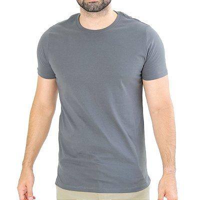 Camiseta Básica Chumbo