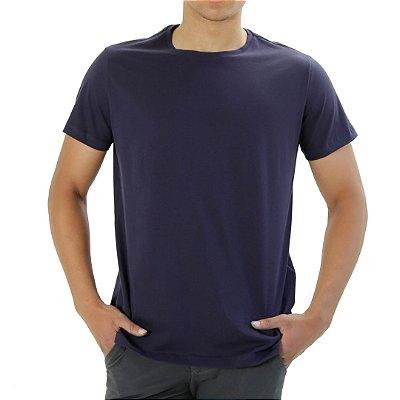 Camiseta Algodão Pima Azul Marinho