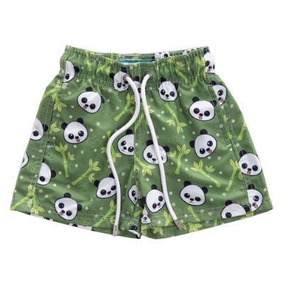 Short Infantil Estampado Pandas