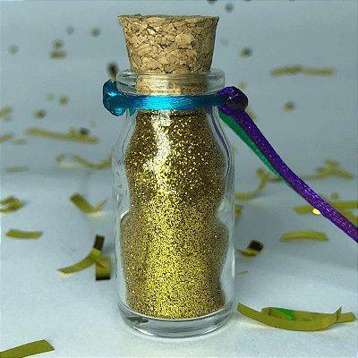 Colar de Glitter Dourado
