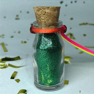 Colar de Glitter Verde