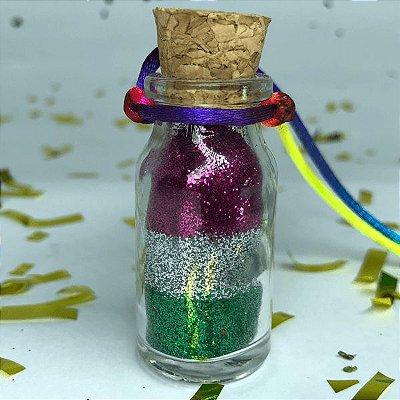 Colar de Glitter Three Colors