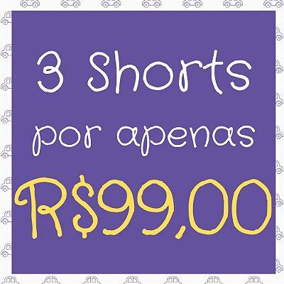 Kit 3 Shorts Infantil