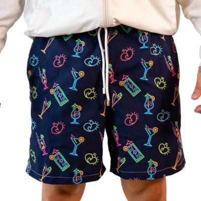 Short Masculino Estampado Drinks