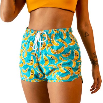 Short Feminino Estampado Banana