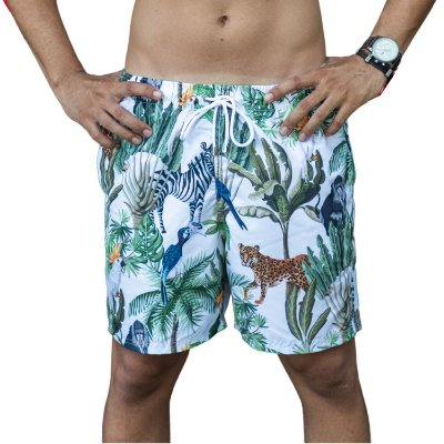 Short Masculino Estampado Safari