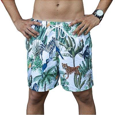 Short Masculino Estampado Safari