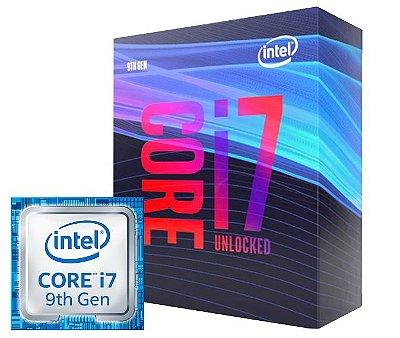 PROCESSADOR INTEL i7-9700K LGA 1151 9º GERAÇÃO 3.6GHz (4.9GHz MAX TURBO)