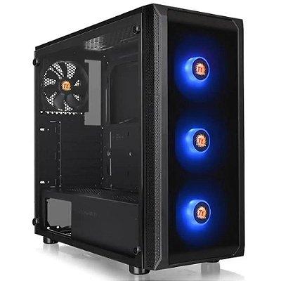 GABINETE GAMER THERMALTAKE J23 TG RGB BLACK SPCC VIDRO MB SYNC - CA-1L6-00M1WN-01