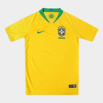 9fd4dc78c5 Camisa Seleção Brasil Juvenil I 2018 s n° - Torcedor Nike - Amarelo e