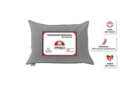Travesseiro Medicinal Sobagara Cor Cinza Escuro