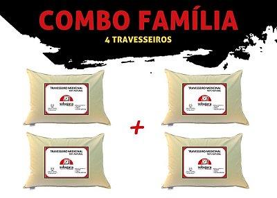 Combo Família - 4 Travesseiros Sobagara