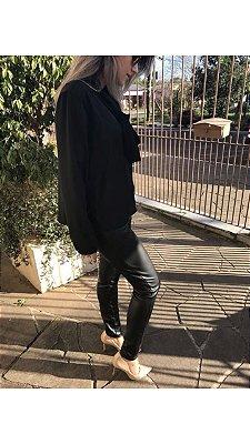 Skinny Neoprene Efeito Couro