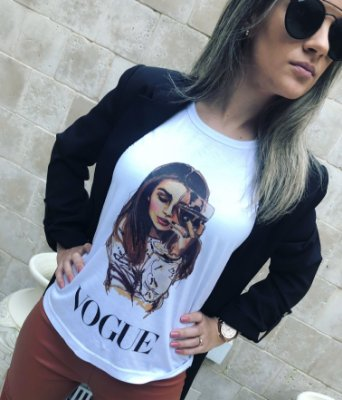 T-Shirt Wine Vogue