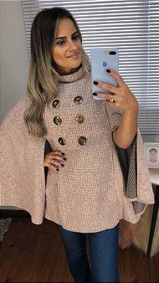 Capa Tweed Botões