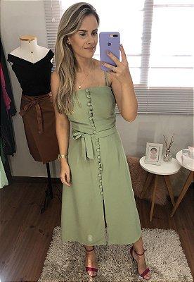 Vestido Alcinha com botões