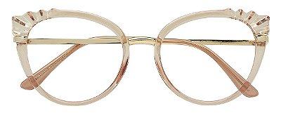 Armação Óculos Receituário AT 5020 Marrom Transparente