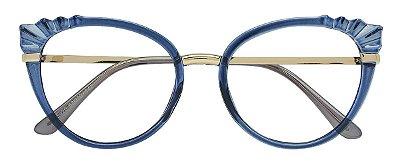 Armação Óculos Receituário AT 5020 Azul Transparente