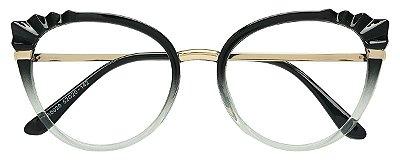 Armação Óculos Receituário AT 5020 Preto Degradê