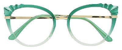Armação Óculos Receituário AT 5020 Verde Degrade
