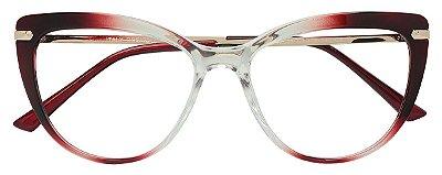 Armação Óculos Receituário AT 2097 Vermelho Degradê