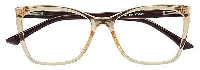 Armação Óculos Receituário AT 1158 Champagne Transparente