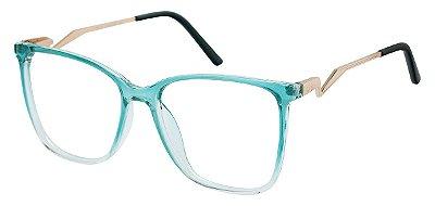 Armação Óculos Receituário AT 2101 Azul Degrade