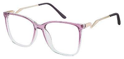 Armação Óculos Receituário AT 2101 Lilás Degrade