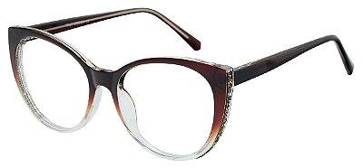 Armação Óculos Receituário AT 2075 Marrom Degradê