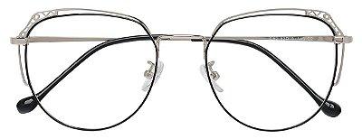 Armação Óculos Receituário AT 9262 Prata/Preto
