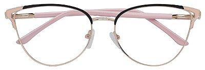 Armação Óculos Receituário AT 8380 Dourado/Preto