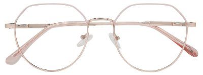 Armação Óculos Receituário AT 1037 Branco/Dourado