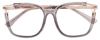 Armação Óculos Receituário AT 2067 Cinza Transparente