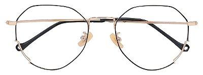 Armação Óculos Receituário AT 9203 Preto/Dourado