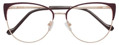 Armação Óculos Receituário AT 22097 Vinho/Dourado