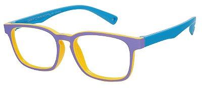 Armação Óculos Receituário Infantil AT 8139 Lilás/Azul (04 A 12 Anos)