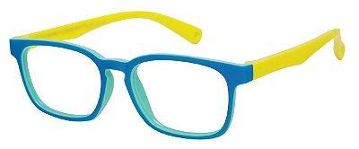 Armação Óculos Receituário Infantil AT 8139 Azul/Amarelo (04 A 12 Anos)