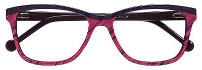 Armação Óculos Receituário AT 11 Roxo/Rosa