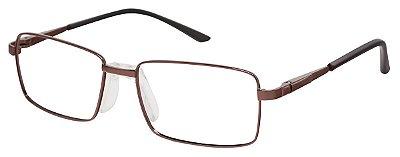 Armação Óculos Receituário AT 9013 Cobre (Ponte Anatômica)