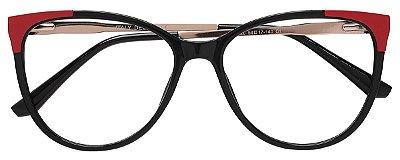 Armação Óculos Receituário AT 2120 Preto/Vermelho