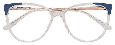 Armação Óculos Receituário AT 2120 Transparente/Azul