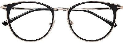 Armação Óculos Receituário AT 9135 Preto/Prata