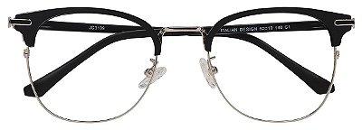Armação Óculos Receituário AT 3109 Preto/Prata