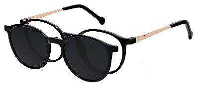 Armação Óculos Receituário e Sol 5003 Clipon com 1 Lente Preto