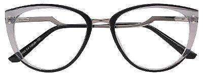 Armação Óculos Receituário AT 20102 Cinza Transparente