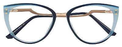 Armação Óculos Receituário AT 20102 Azul Transparente