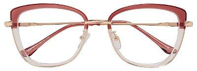 Armação Óculos Receituário AT 20110 Marrom/Transparente